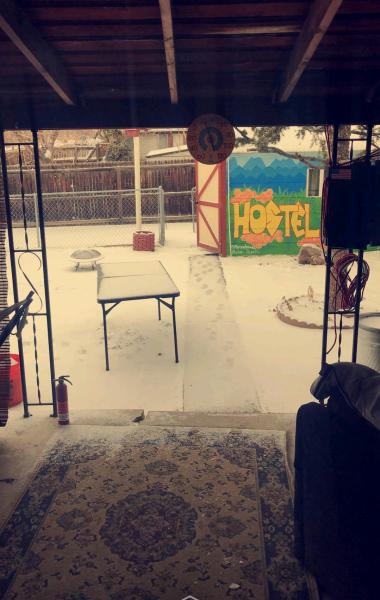 Backyard of HostelKush