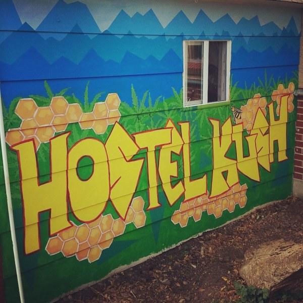 HostelKush mural