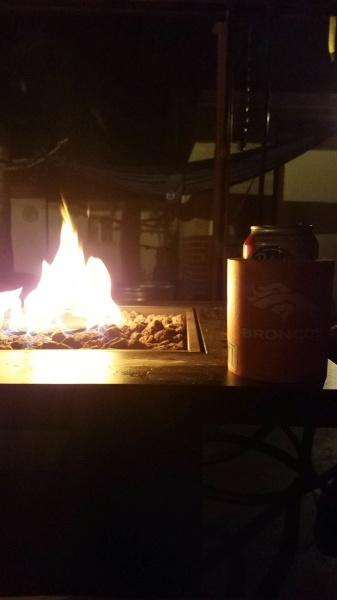 Fire table outside