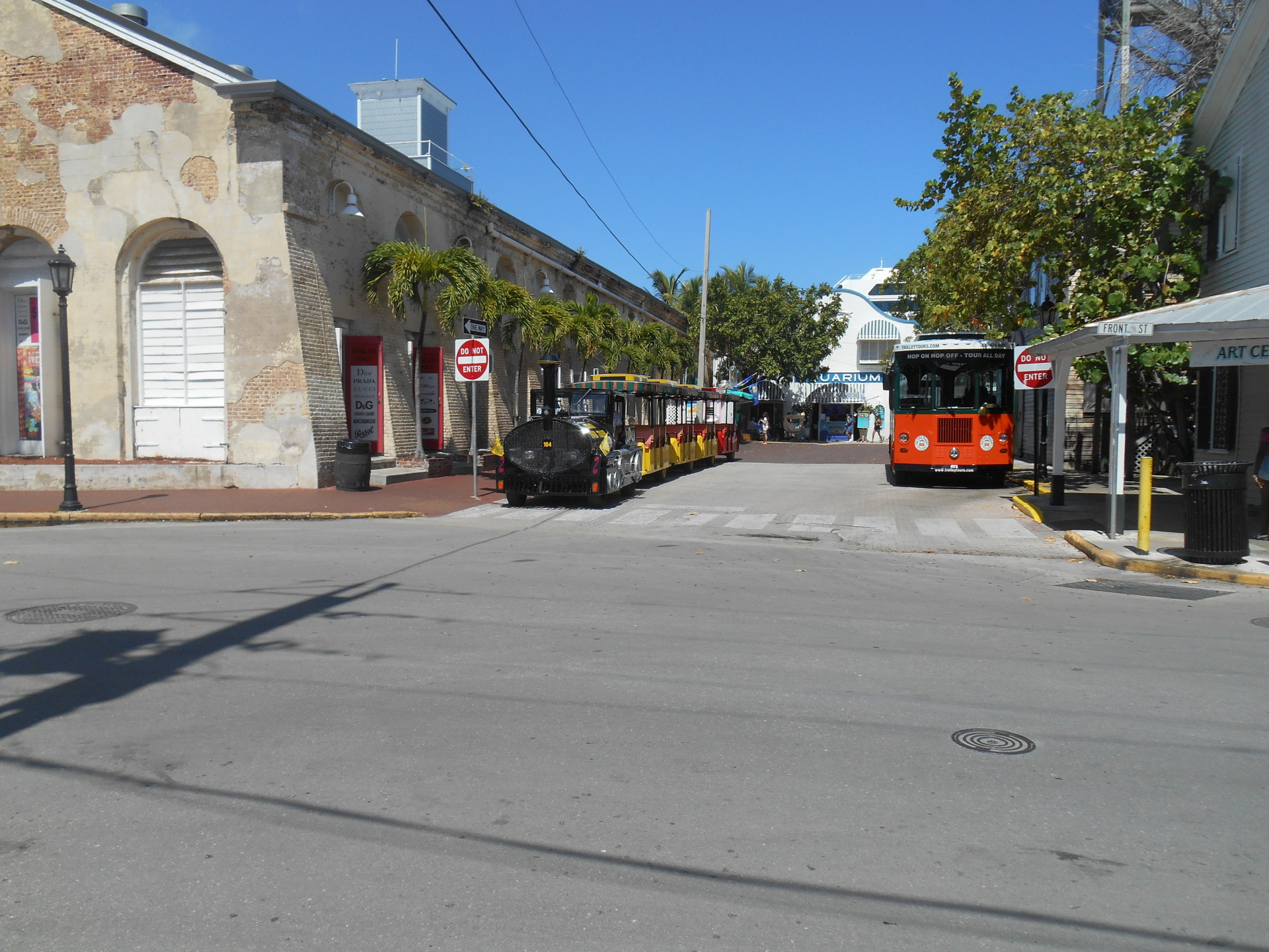 One of the trams near Duval Street