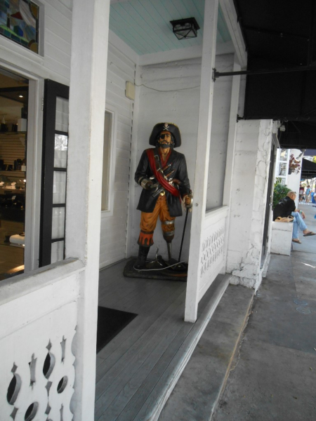Love this pirate at one of the shops