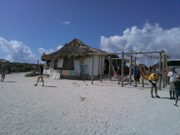 A shop on the other side of the island