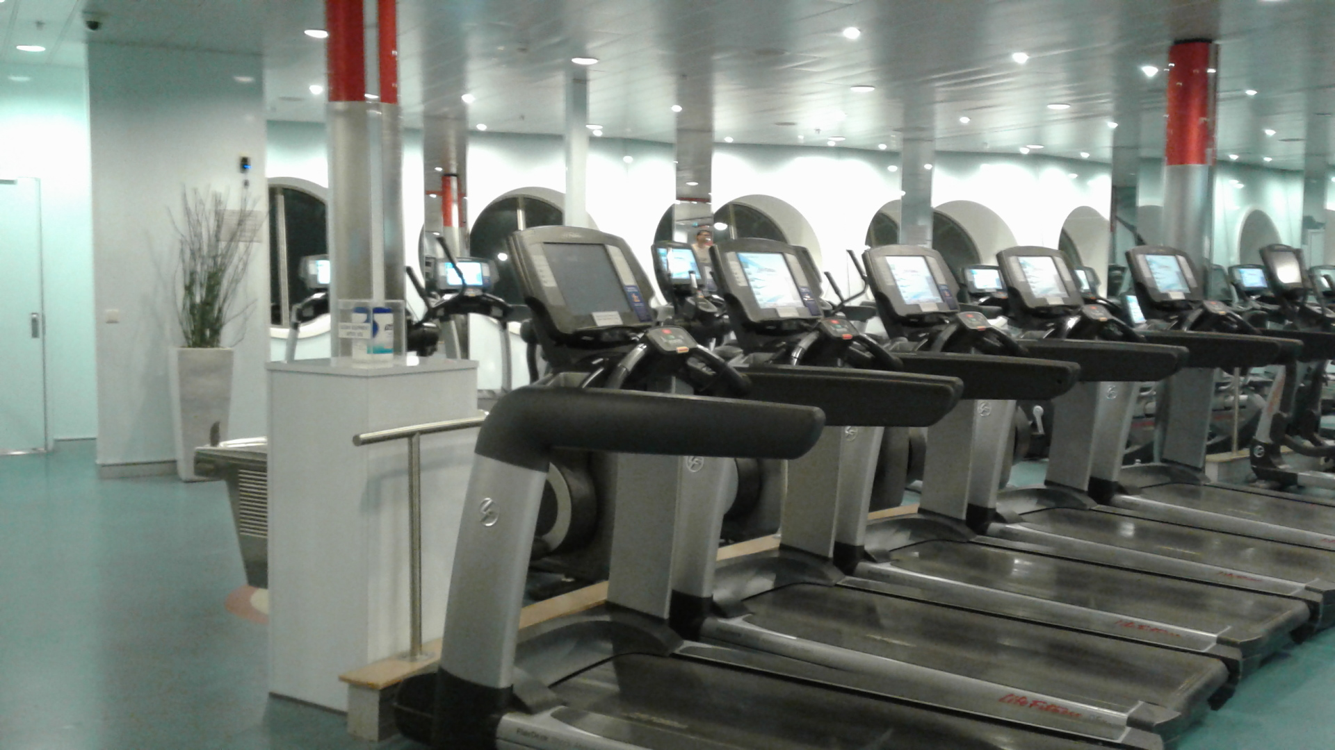 Ship Gym Workout Area