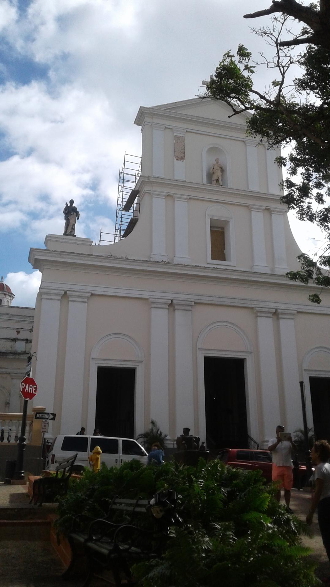 Scaffolding on San Juan Bautista Church