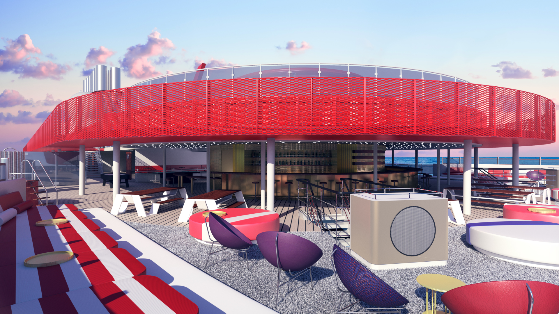 Virgin Voyages_Scarlet Lady_AthleticClub-daybed_Concrete-Amsterdam-2