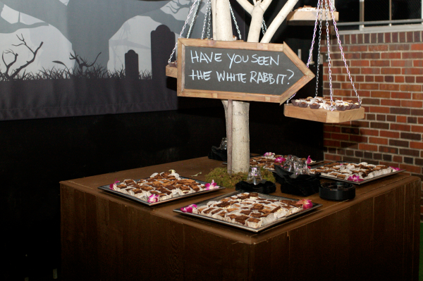 Creatively displayed treats at a client appreciation event
