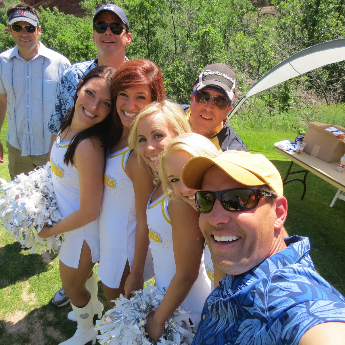 Retirement Masters Golf Tournament with the Nuggets Cheerleaders