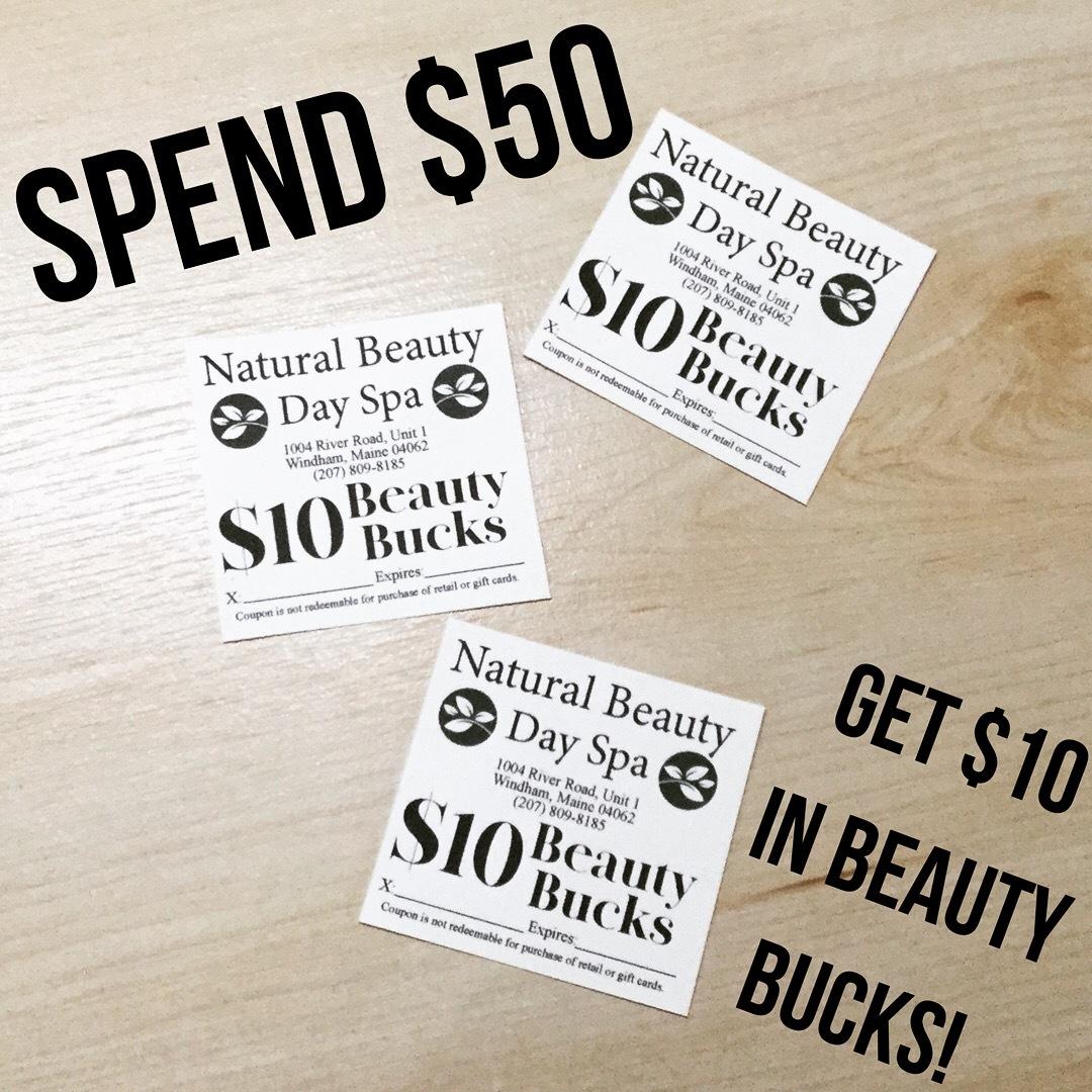 Beauty Bucks are here!!!