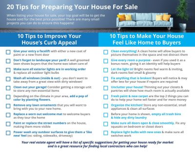 Home Selling: 20 Tips for Preparing Your House for Sale This Spring