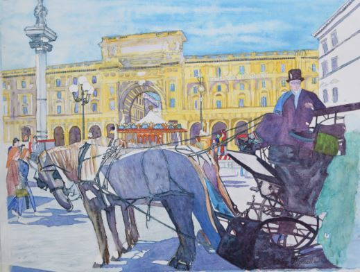 Horse and Carriage, Florence  £250.00.