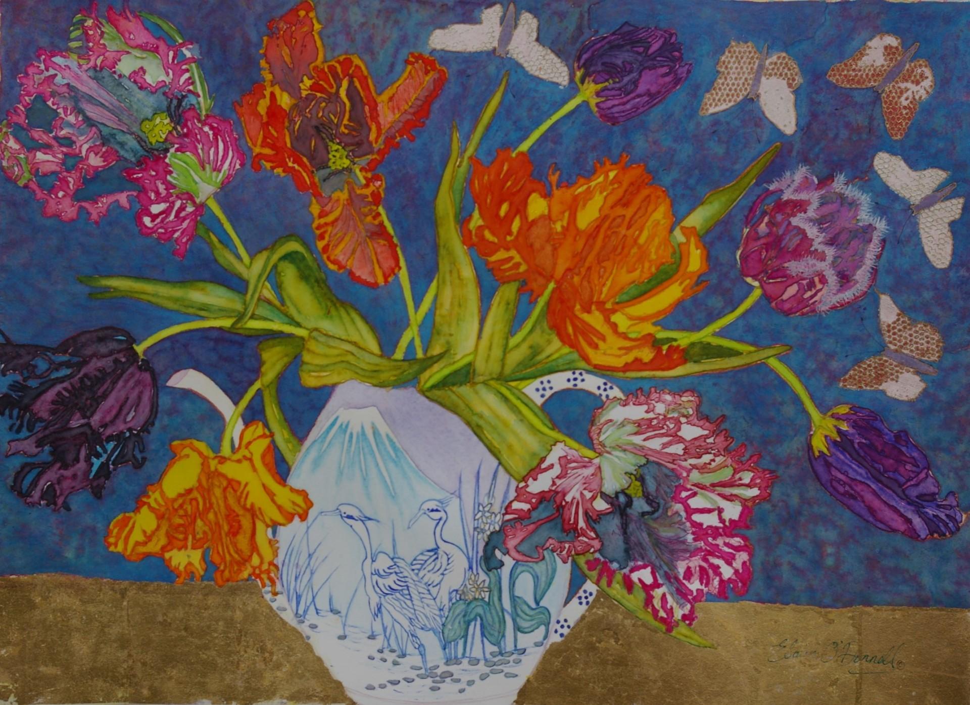 Posing Parrot Tulips.  £250.00