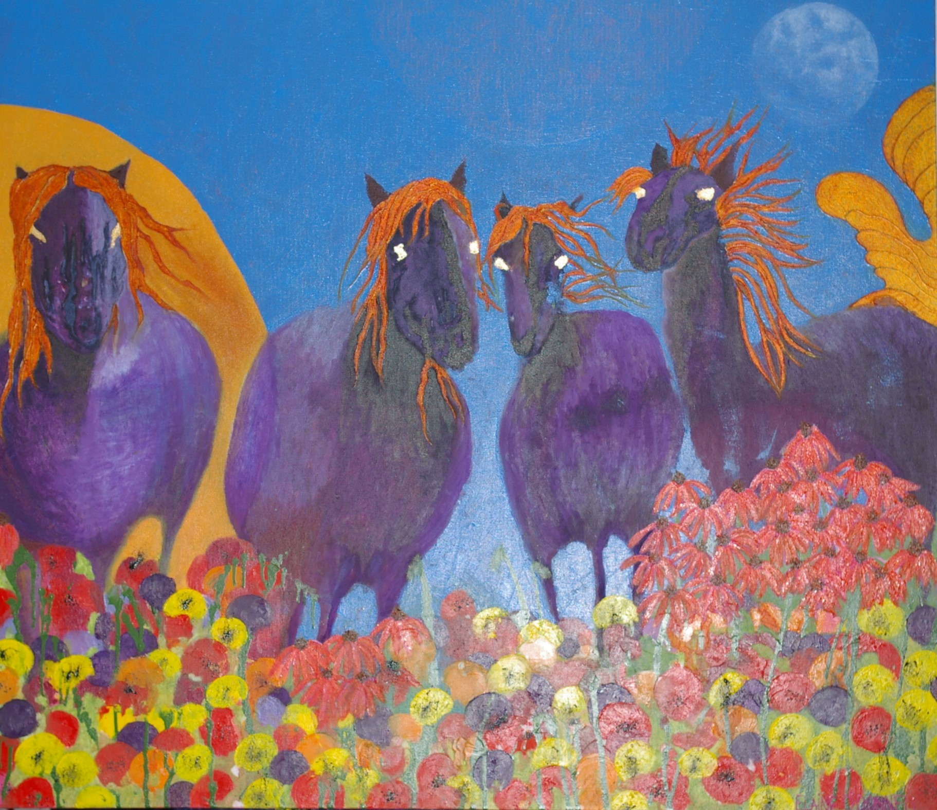 The Sun, The Moon and The Stars. £400.00