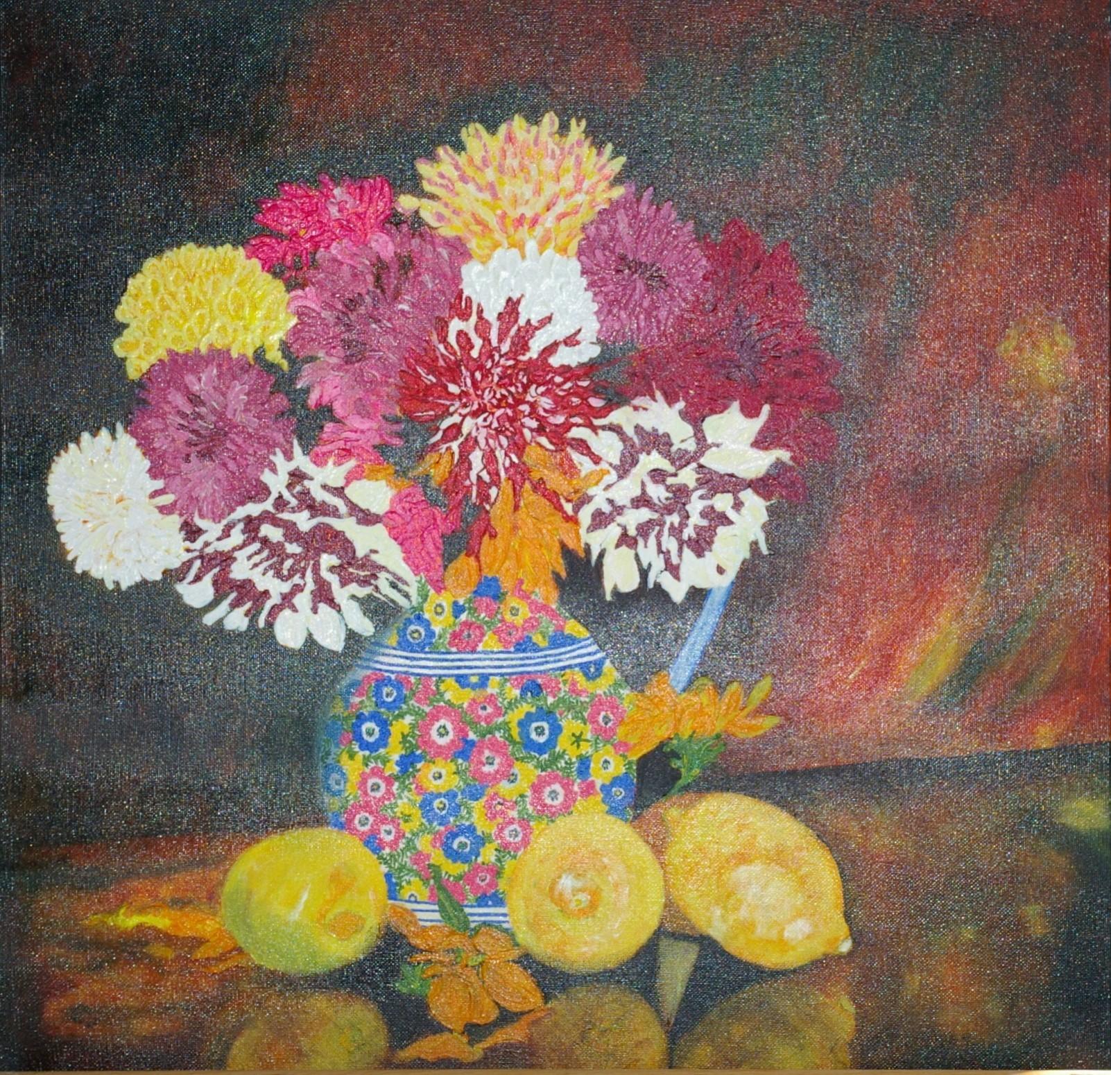 Dahlia's and Lemons. £150.00