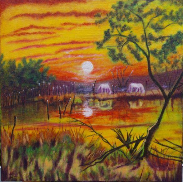 Sunset SW France. £150.00
