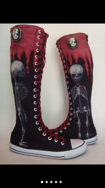 Skeleton Boots US Womens 8
