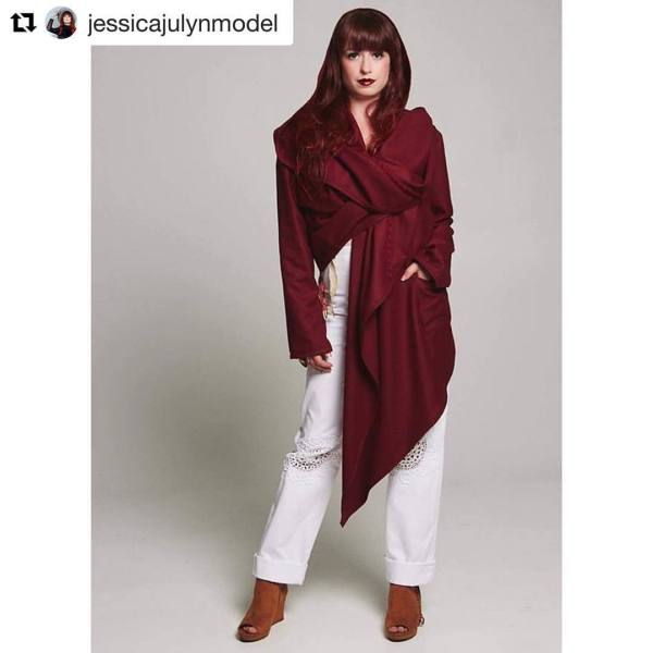 Burgundy Wool Coat $480.00