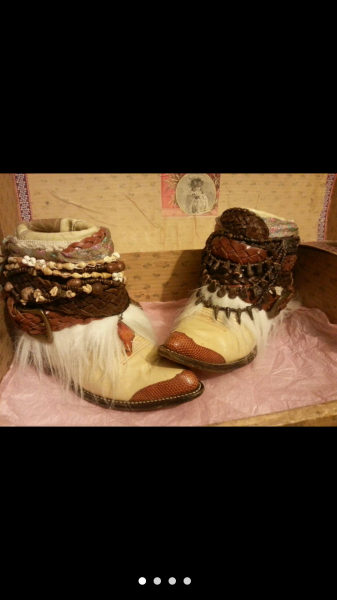 Custom Cowboy Boots $225.00 Size 9
