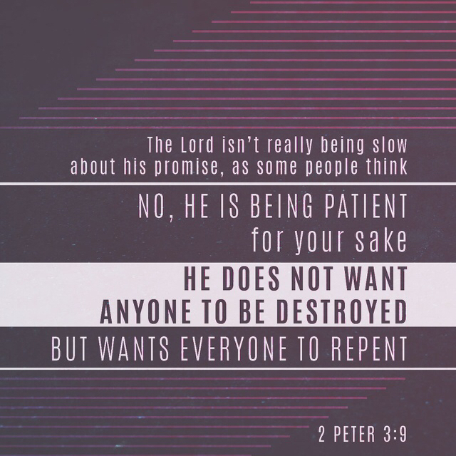 He Wants Us To Repent
