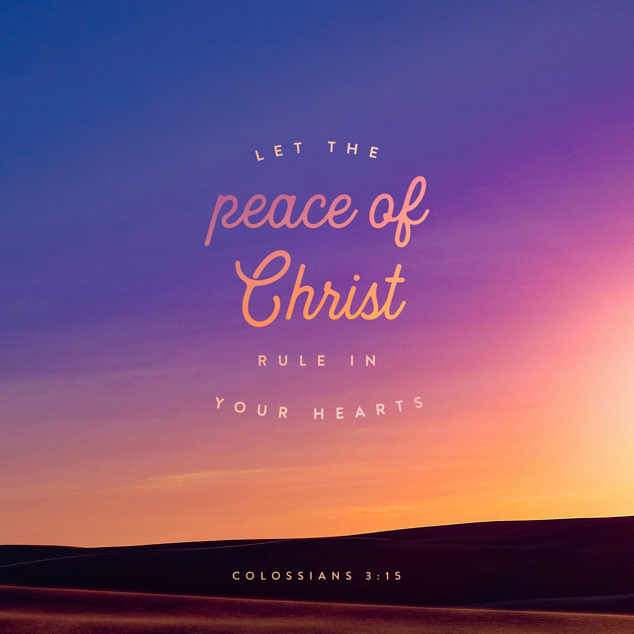 Peace Of Mind?  No... Peace Of Christ!