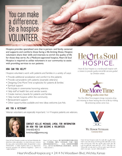 Heart & Soul Hospice® Flyer | You can make a difference.