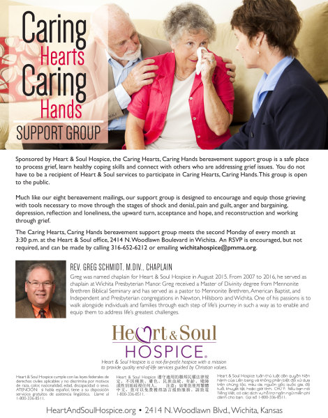 Heart & Soul Hospice® Flyer | Caring Hearts, Caring Hands