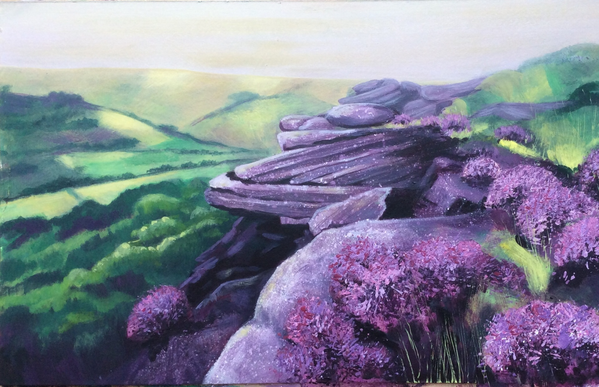 Curbar Edge in Purple Season