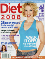 Diet Magazine Cover 2008 Makeup and Hair