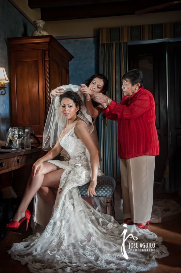 Evette Rios Wedding, San Juan, Puerto Rico. Hair and Makeup