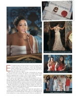 Latino Bride and Groom Magazine Cover, San Juan Puerto Rico -- Makeup and Hair