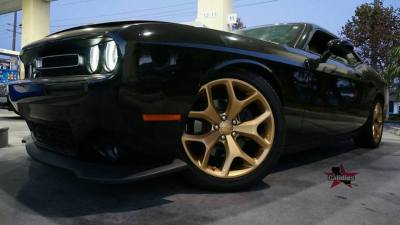 wheels dipped on a Dodge Challenger