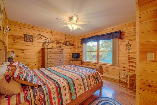 Bedroom #2 upstairs with Queen Bed