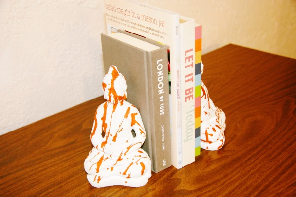 Persimmon Orange Dripped Bookends