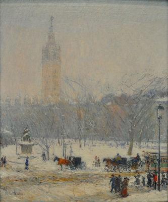 Snowstorm Madison Square