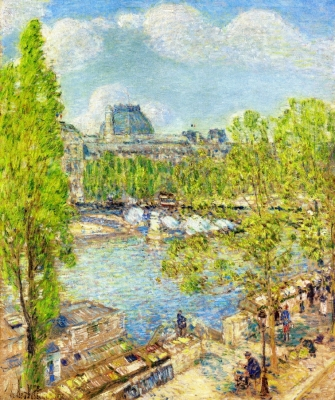 April, Quai Voltaire, Paris
