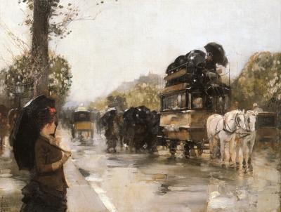 April Showers, Champs Elysees Paris