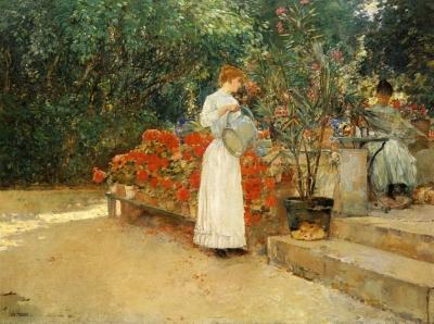 Butler Lili in garden