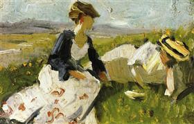 Two Women on the Hillside