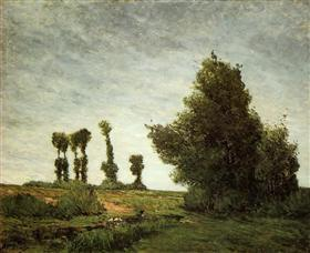 Landscape with Poplars