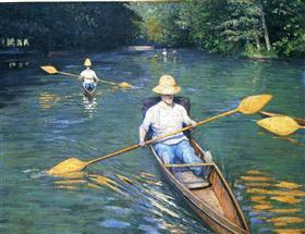 Skiffs on the Yerres