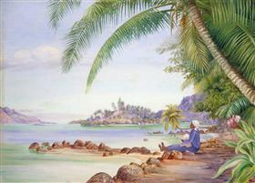 View of Round Island and a Part of St Anne's from quarantine island