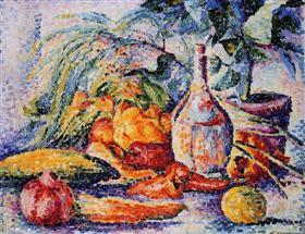 still life with bottle of wind