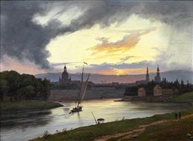 Dresden I Solnedgang