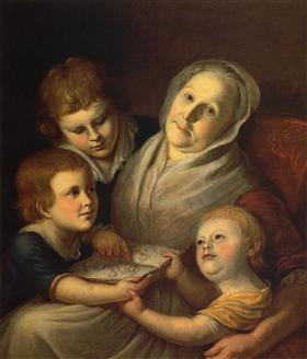 The artist's mother, Mrs. Charles Peale and her grandchildren