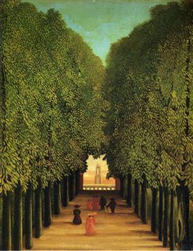 Alleyway in the Park of Saint Cloud
