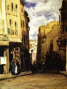 Montparnasse Landscape (Hilltop Street)