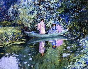 Two Ladies in a Boat