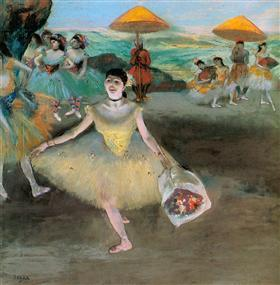 Dancer with a Bouquet Bowing