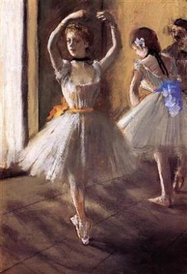 Two Dancers in the Studio (Dance School)