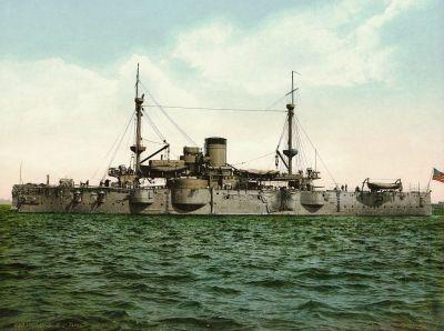 """MIL-139 U.S.S. """"Texas"""" c.1898"""