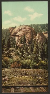 CO-117  Dome Rock, Platte Canon c.1898
